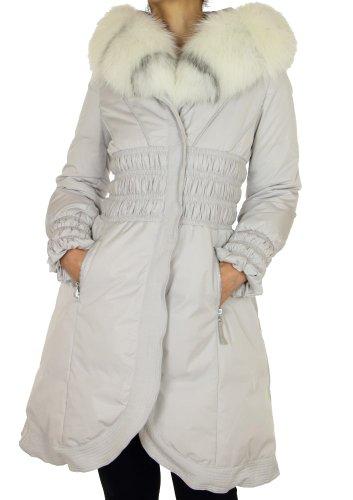ERA Womens Down Coat with Platinum Fox Fur<br />