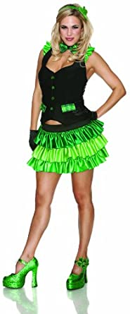 Delicious St. Patty's Girl Lucky Charm Costume, Green, Large/X-Large