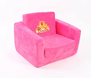 Children 39 S Chair Fold Out To Bed Sofa Hot Pink Princess Toys Games