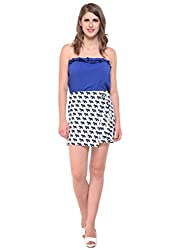 Printed White Overlap Skirt