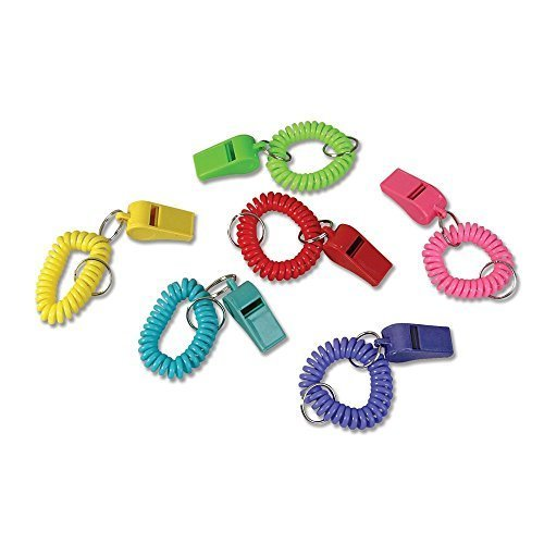 24-Colorful-Spiral-Bracelet-and-Keychain-Whistles-2-Dozen-Fun-noise-making-Whistles-Party-Birthday-Favors-Prize-Fairs-Parties-Sports-Team-Gifts-Loot-Bags-Easter-by-RIN
