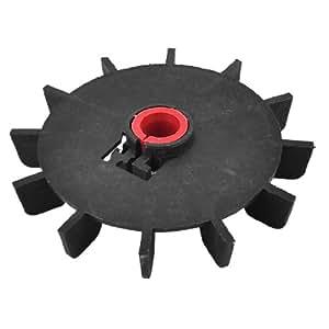 Replacement black plastic inner dia 15mm 12 impeller motor for Plastic fan blades for electric motors