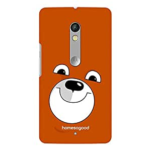 HomeSoGood Humphrey The Bear Brown 3D Mobile Case For Moto X Play (Back Cover)