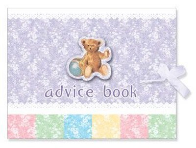 Vintage Nursery Baby Shower Advice Book front-562499