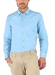 Nick&Jess Mens Sky Blue Button Down Collared Shirt