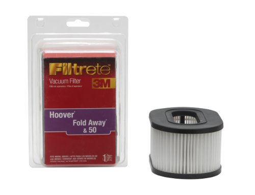 3M Filtrete Hoover Fold Away Primary Vacuum Filter, 1 Pack