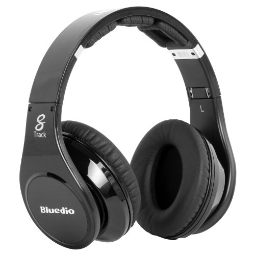 Bluedio R-Wh Stereo Hifi Headphone Revolutionary 8 Driver Units 8 Tracks Hi-Fi Monitoring Headset Wired Headphones (Black)