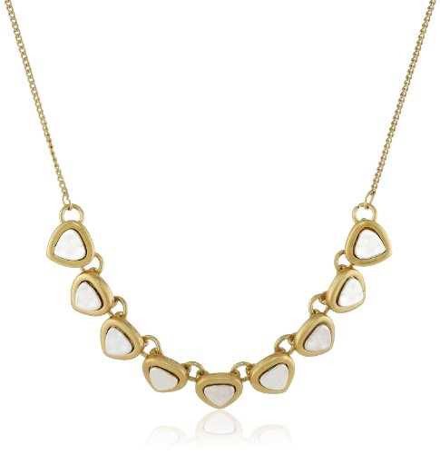 """Nine West Vintage America """"Two Step"""" Two-Tone Petite Frontal Necklace, 18"""""""
