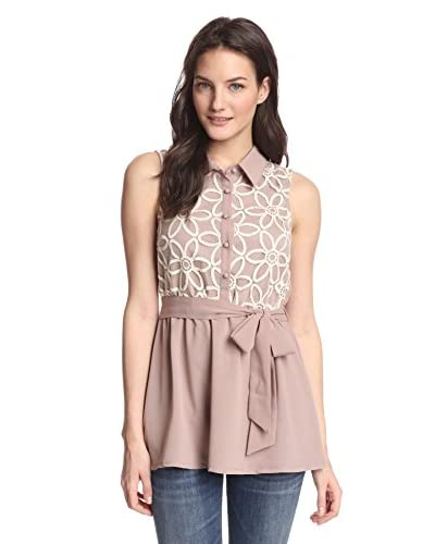 A'reve Women's Sleeveless Button-Down Top