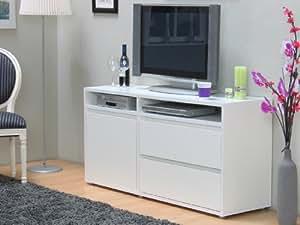 tv schrank vision hifi m bel kommode anrichte sideboard fernsehschrank weiss. Black Bedroom Furniture Sets. Home Design Ideas