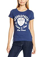 Geographical Norway Camiseta Manga Corta T Shirt Col Rond Comme Sur La Photo (Azul Oscuro)