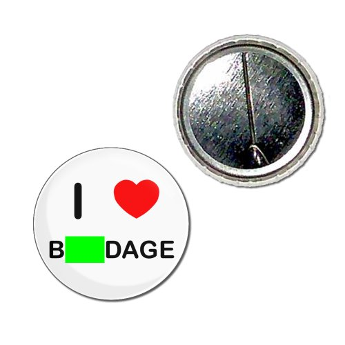 I Love Bondage - 25mm Knopf-Abzeichen