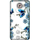 FUSON Designer Back Case Cover For Samsung J7 Max G615F/DS, Samsung Galaxy On Max, Samsung Galaxy J7 Max (Butterfly Daisy Bunch Border Garden Beauty Beautiful Bloom)