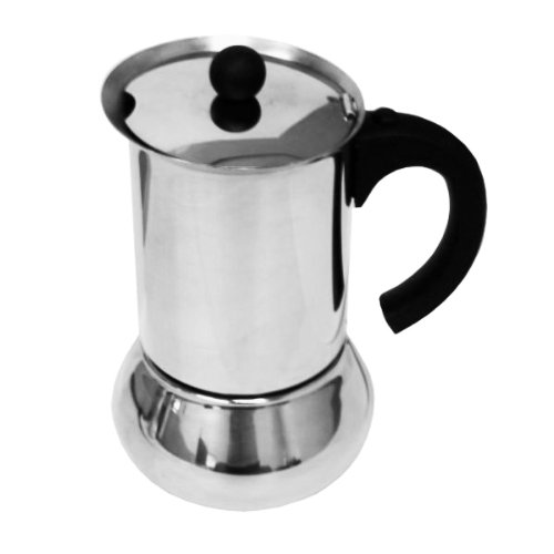 Vev Vigano Carioca Nero 12-Cup Espresso Maker