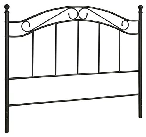 Black Bed Headboard- Fits Full or Queen Bed Frames by Mainstays (Headboard Full Metal compare prices)