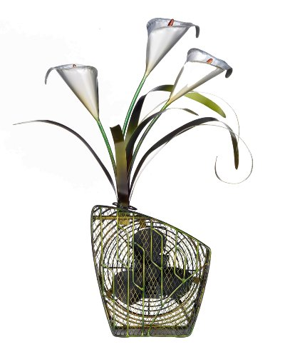Deco Breeze Decorative Figurine Table Fan, Calla Lilies, 24-Inch Tall by 15-Inch Wide