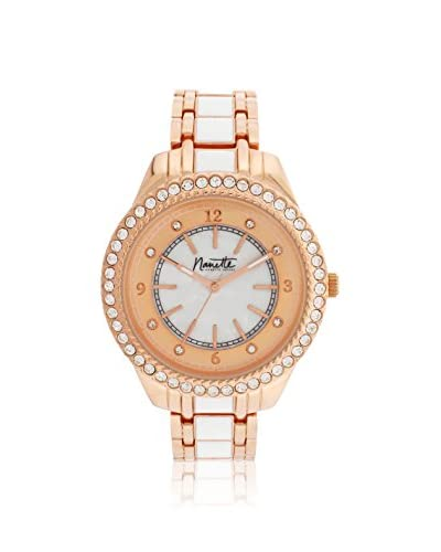 Nanette Lepore Women's 80711 Rose Gold-Tone/White Alloy Watch