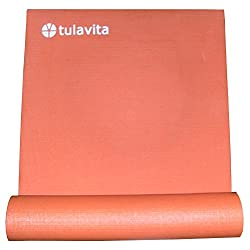 Funny product Yoga Mat Tulavita.com Orange Non-slip PVC (With Detachable Carry Strap) 1/4 Inch Thick