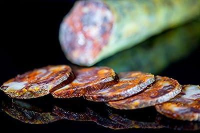 Artisanal Chorizo 100% Ibérico De Bellota. Gourmet Dry-cured Acorn-fed 100% Ibérico Chorizo