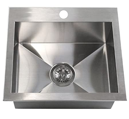 "19"" x 17"" Single Bowl Kitchen Sink"
