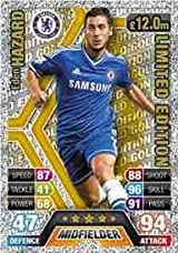 Match Attax 2013/2014 Eden Hazard Chelsea 13/14 Gold Limited Edition