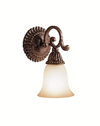 Kichler Lighting 5214TZG 1-Light Larissa Incandescent Wall Sconce, Tannery Bronze