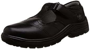Bata Industrials BS2000 T Bar Women's Safety Shoes, Black, Size 3