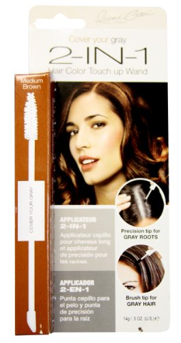 Irene Gari Cover Your Grey for Women 2-in-1 Hair Color Touch up Wand 14g/0.5oz - Medium Brown