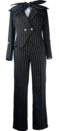 XYZcos Men's Nightmare Before Christmas Jack Skellington Suit Costume Size M (The Nightmare Before Christmas Jack Skellington Adult Costume)