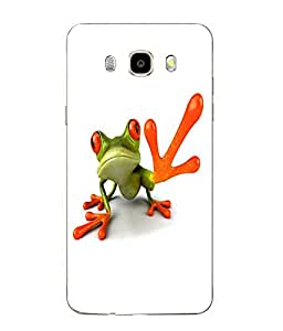 Make My Print Funny Frog Printed White Soft Back Cover For SAMSUNG Galaxy J5 - 6 (New 2016 Edition)