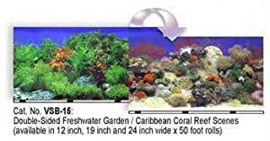 Blue Ribbon Pet Products ABLVSB1524 Decorative Reef Background for Aquarium, 24-Inch 50-Feet