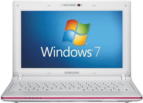Samsung N145 Plus 10.1 inch netbook (Intel Atom N455 1.66GHz, 1Gb, 250Gb, WLAN, Webcam, Windows 7 Starter) - Pink