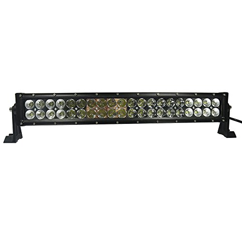 120W 24 Inches Curved Long Led Work Lights Bar Combo Beam For Jeep Cabin/Boat/Suv/Truck/Car/Atv/Vehicles/Automative/Jeep/Marine Off-Road Bulb Lamp Light Fog Lighting Exterior