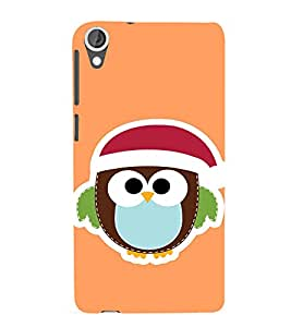 EPICCASE Cute Bird Face Mobile Back Case Cover For HTC Desire 820 (Designer Case)