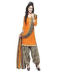 ZHot Fashion Women's Printed un-stitched Salwar Suit Material In Cotton Fabric (RHRN1017) Orange