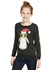 Penguin Spotted Jumper with Angora