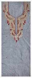Astha Boutique Women's Synthetic Kurta Fabric (Grey)