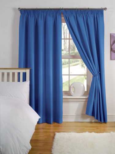 Simply Style Madison Blue Light Reducing Thermal Backed Curtain Pair 46