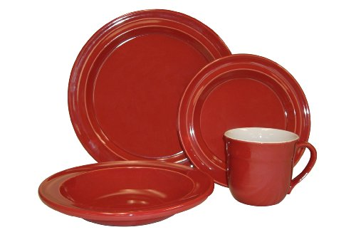 Emile Henry 16-Piece Dinnerware Set, Service for 4, Cerise