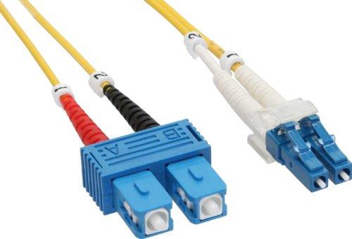 InLine LWL Duplex Kabel, LC/SC, 2m