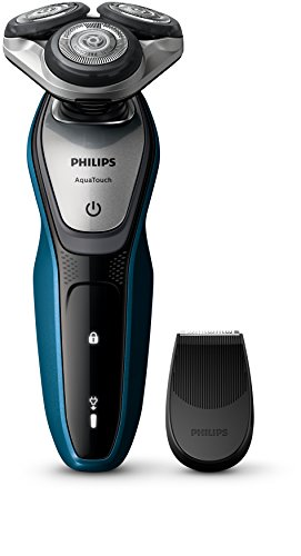 41x7luniTZL - BEST BUY #1 Philips AquaTouch S5420/06, Wet and Dry Men's Electric Shaver with SmartClick Precision Trimmer