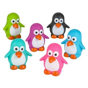Mini Rubber Penguin (Pack of 12) - 1