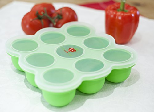 Baby Food Storage Silicone Freezer Tray | Free Recipe Ebook| Non-stick Container