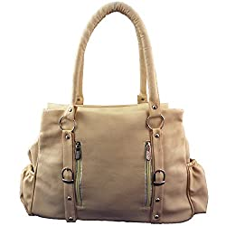 Frenchxd Women's Handbag (Cream,FXDNHBALR248)