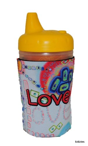 Kidzies Huggerz, Child'S Drink Sippy Cup Bottle Insulator, Love Design front-666468