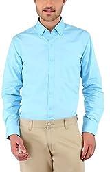 Nick&Jess Mens Light Blue Button Down Collared Shirt