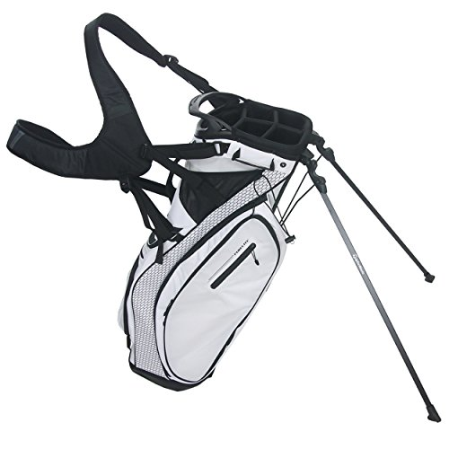 TaylorMade Golf PureLite Stand Bag, White/Black (Taylormade Purelite Stand Bag compare prices)