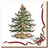 C.R. Gibson 20 Count Lunch Napkins, Christmas Holly and Ribbon