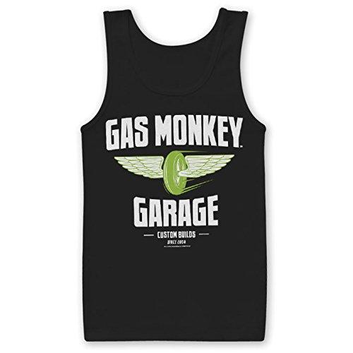 Officially Licensed Merchandise Gas Monkey Garage - Speed Wheels Tank Top Black XX-Large