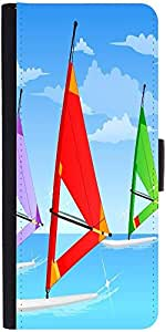 Snoogg Sail Board Sky 2561 Designer Protective Flip Case Cover For Samsung Ga...